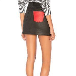 NWT Current/Elliot Leather Mini Skirt in Black